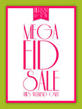 Eid Mubarak Mega Sale Abstract Fotografia Stock