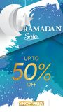 Eid Mubarak or ramadan kareem for instagram story sale banner, poster, concept, background, template. Copy space for discount tag. Or content promo product vector illustration