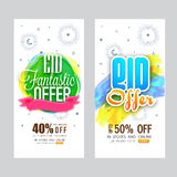 Eid Mubarak Sale Website Banners Photos libres de droits