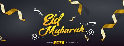 Eid Mubarak Sales offer vector template design cover banner stock photo