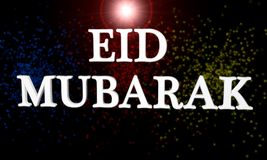 Eid Mubarak tło, 3d Obraz Stock