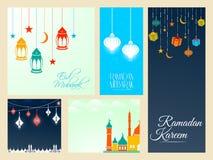 Eid Mubarak Web Banners Lizenzfreies Stockfoto