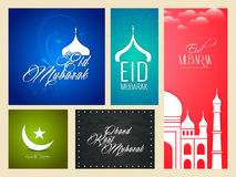 Eid Mubarak Web Banners Stock Foto's
