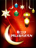 Eid mubarakh achtergrond Royalty-vrije Stock Foto's