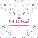Eid mubarok template islamic greeting card  vector illustration