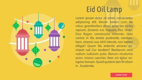 Eid Oil Lamp Conceptual Design Image stock