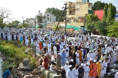 Eid Prayer in Bhopal, India Stock Fotografie