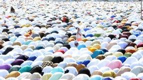 Eid Prayer in Bhopal, Indien stockbild