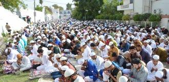 Eid Prayer in Bhopal, Indien stockbilder