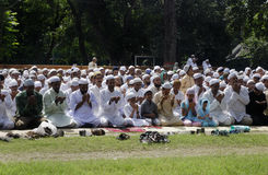 Eid prayer Stock Image