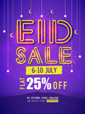 Eid Sale Flyer or Banner. Stock Images