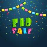 Eid Sale Poster o insegna Fotografie Stock Libere da Diritti