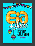 Eid Sale Poster or Sale Banner. Royalty Free Stock Image