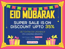 Eid Sale Poster or Sale Banner. Stock Image