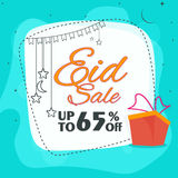 Eid Sale Poster or Sale Banner. Royalty Free Stock Photography