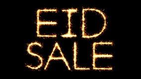 Eid Sale Text Sparkler Glitter chispea la animación del lazo del fuego artificial almacen de video