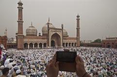 Eid Ul Zuha Jama Masjid, Delhi Stock Foto