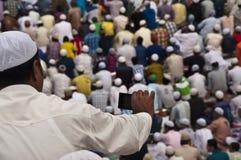 Eid Ul Zuha Jama Masjid, Delhi Royalty-vrije Stock Afbeeldingen