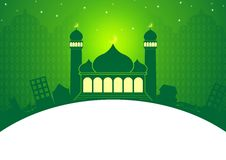 Eid y Ramadan Green Greeting Card Template libre illustration