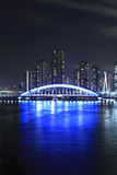 Eidai桥梁和Sumida河在东京,日本 免版税库存图片