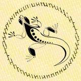 Eidechse auf einem Ziegelstein Stockfoto
