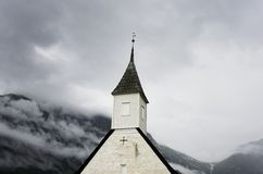 Eidfjord Church Norway on a Cloudy day Stock Image