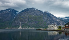 Eidfjord town, Norway. Royalty Free Stock Photography
