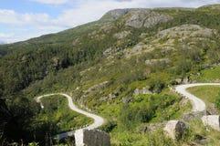 eidfjordpiste Arkivbild