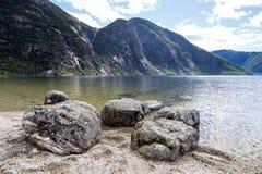 Eidfjordvatnet Immagini Stock Libere da Diritti