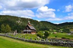 Eidsborg ударяет церковь в Норвегии, Telemark Стоковое Фото