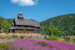 Eidsborg Stave Church dans Telemark Norvège photos libres de droits