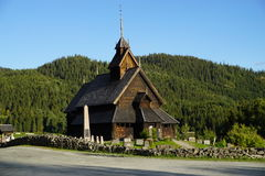 Eidsborg stave church. Norwegian stave church from about 1250 in Telemark county Royalty Free Stock Photography