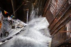Eidsfoss kędziorka plombowanie z wodnym Telemark Kanałowy Telemark Norwegia fotografia royalty free