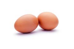 Eier auf einem weißen Hintergrund lizenzfreie stockbilder
