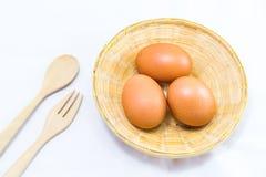 Eier auf Weiß Lizenzfreies Stockbild