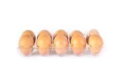 Eier auf weißem Hintergrund stockfoto