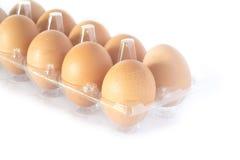 Eier auf weißem Hintergrund lizenzfreie stockfotos