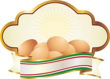 Eier beschrifteten organisch Stockfoto