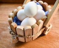 Eier der Ente, biologisches Lebensmittel Lizenzfreies Stockbild