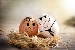 Eier in der Liebe lizenzfreie stockfotografie