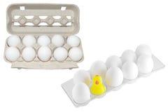 Eier in der Verpackung Stockfotografie