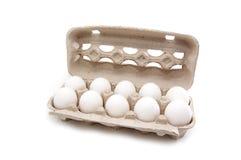 Eier in der Verpackung Stockbild