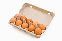 Eier in einem Kartonkasten Lizenzfreies Stockfoto