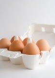Eier in einem Kasten Lizenzfreies Stockbild