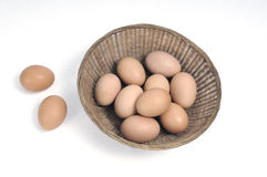 Eier in einem Korb Lizenzfreie Stockfotografie