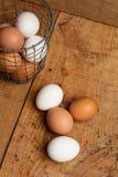 Eier in einem Korb Lizenzfreies Stockbild