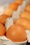 Eier in einem Paket stockfoto