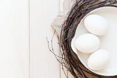Eier in einer Bratpfanne Lizenzfreie Stockfotografie