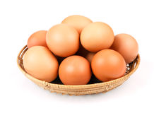 Eier in einer Schüssel Lizenzfreie Stockbilder