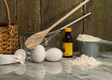 Eier für Hausmannskost und Backen Stockfotos